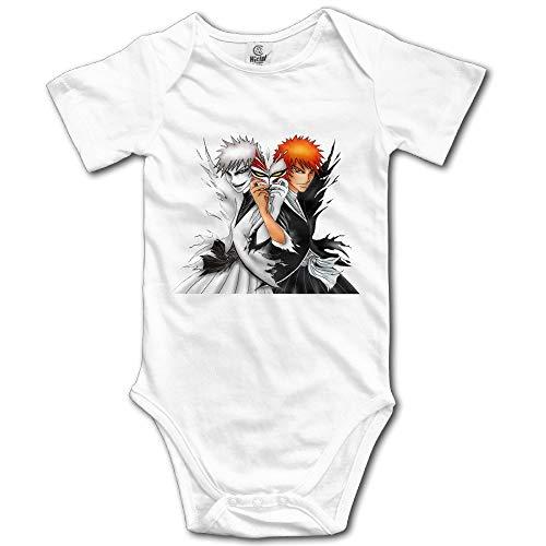 PFZYJLJY One Piece Anime Character Luffy Baby Onesie Baby White]()