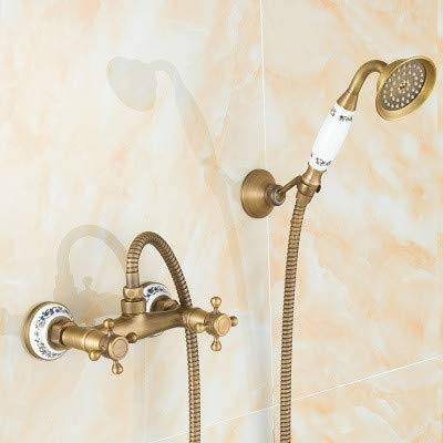 bluee-tiled 5 Pass Hlluya Professional Sink Mixer Tap Kitchen Faucet The copper shower shower set shower set faucets antique shower, bluee-tiled 5 pass