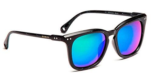 6bacb8adf4 SUNXY - Gafas De Sol Con Lentes Espejo Berkner Rv004, Unisex, Color Negro:  Amazon.es: Ropa y accesorios