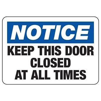 SN-10Hx14W-RFP-PLY-N-KEEP This Door CLOS10