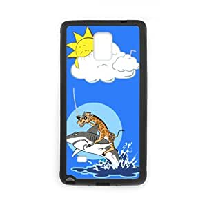 super shining day Cool Back Skin Giraffe Riding Shark for TPU Material Samsung Galaxy Note 4