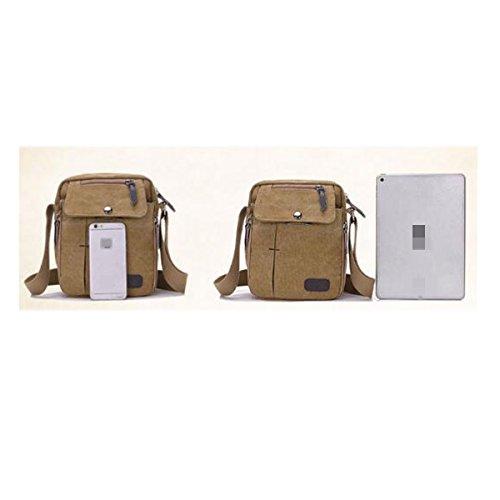 Volumen Libre Capacidad Multifuncional Bolsa De Funciones Gran Brown02 De Pequeño Al Hombres De De Aire Bolso Lona mochila Los Múltiples xxSB1A8