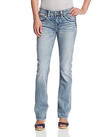 Amazon.com: Silver Jeans Women&39s Suki High-Rise Baby Bootcut Jean