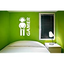 Gamer Wall Decal for Rooms Doors Decoration Video Game Wall Decal Game Vinyl Art Boys Room Play Room Decoration Game Console Decal