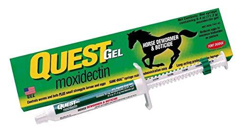 - Quest Horse Wormer Gel Paste Equine Moxidectin Dewormer & Boticide 0.4oz 1 Tube