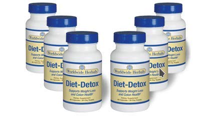 Diet-Detox | All Natural Dietary Supplement Cleanses and Supports Thermogenic Weight Loss & Colon Health | Plant-Based Formula |Increase Energy Levels & Flush Fat | 180 Day Supply