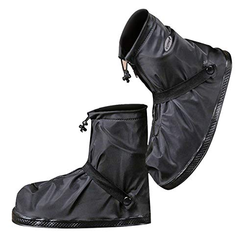 Life-C Black Waterproof Snow Rain Shoes Covers Women Men XXXL