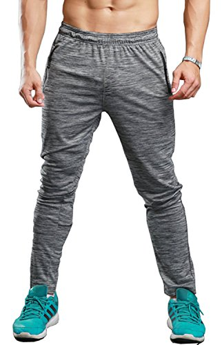 Classic Track Pant - TBMPOY Men's Essential Lightweight Woven Open Bottom Track Pant(02light Grey,us L)