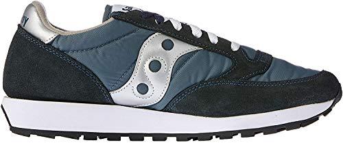 Saucony Originals Men's Jazz Sneaker,Navy/Silver,13 M