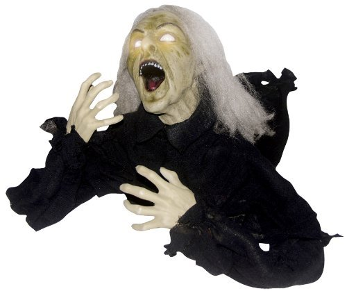 [GROUNDBREAKER HEAD TURNING WITCH HALLOWEEN PROP Haunted House Yard Decoration - SS81634] (Haunted House Prop)