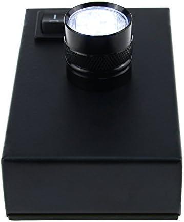 Dark Field 10x Loupe with Desktop Light Darkfield Gem