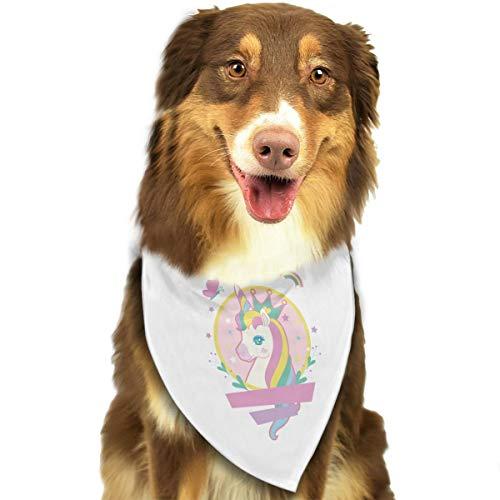Pet Scarf Dog Bandana Bibs Triangle Head Scarfs Unicorn Horse Accessories for Cats Baby Puppy ()
