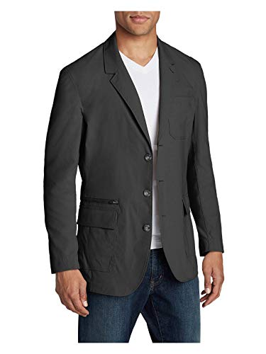 Eddie Bauer Men's Voyager 2.0 Travel Blazer, Dk Slate Regular 42