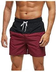 Arcweg Bermuda voor heren, sneldrogend, voor jongens en strand, sport, zwemmen, casual, 12 jaar en ouder, met verstelbaar koord, elastisch, maten 38 - 46