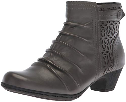 Rockport Women's Brynn Panel Boot Ankle, Grey, 6.5 M US ()