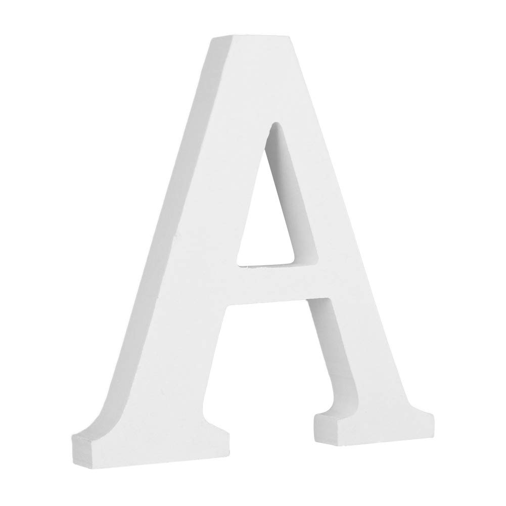 Smartcoco DIY Wooden Hight 8 cm Letter A B C D E etc 26 Letters and '&' Arbitrary Collocation Design Home Party Decor