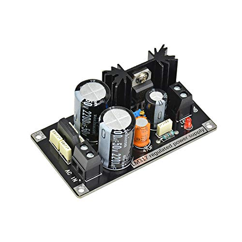 LM317 Adjustable Regulated Power Supply Board AC to DC Adjustable Linear Regulator with Rectifier Filter Board