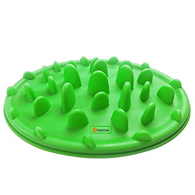 BOGZON Forest Adventure Design Dog Bowl Anti-chocking & Slow Food Dog Bowl - Silicone Pizza Design & Interesting Training Feeder - The Weight-loss Pet Bowl£¬Non-slip Base, Green