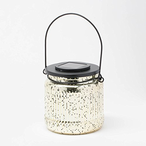 Richland Ribbed Mercury Solar Jar - Gold Set of 12 by Richland
