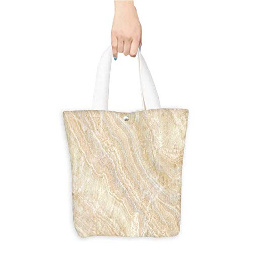 Long Handled Tote Bag natural marbles texture surface backgroun Practical and Eco-Friendly W11 x H11 x D3 INCH
