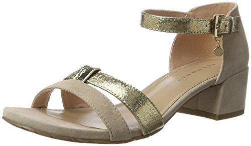 Belmondo Pumps-Damen, Chaussures Compensées Femme Elfenbein (Crema Combi)