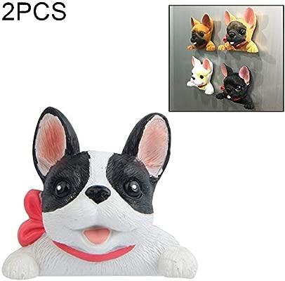 Songlin@yuan 2 unids Creativo Bulldog francés Corbata 3D Hebilla ...