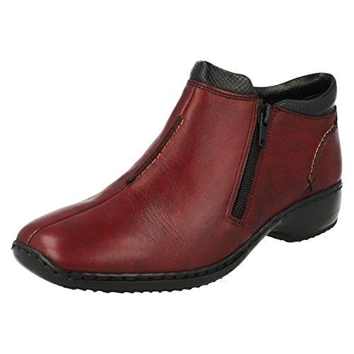 Rieker L3882/00, Women's Ankle Boots Burgundy/Black