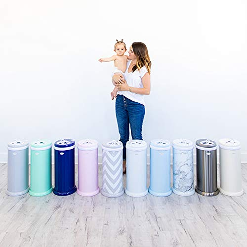 Ubbi Steel Odor Locking, No Special Bag Required Money Saving, Awards-Winning, Modern Design Registry Must-Have Diaper Pail, Gray