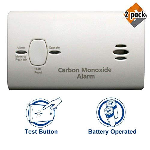 Kidde KN-COB-B-LP2 Carbon Monoxide Alarm, 2 Pack