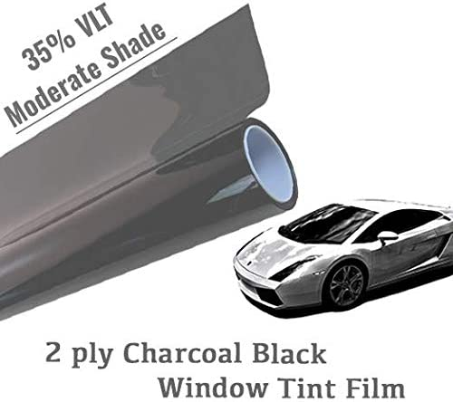 "VLT 35/% Uncut Roll 20/"" x 30FT Window Tint Film Charcoal Black Car Glass Office"