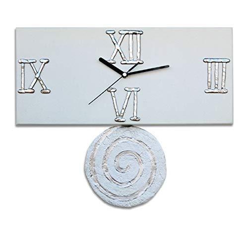 Reloj de Pared moderno. Reloj de cocina, sala de estar u oficina. Da vida a tu hogar. Péndulo. Fabricación Artesanal en España. Decora tu hogar con relojes de pared exclusivos, regalo original.: