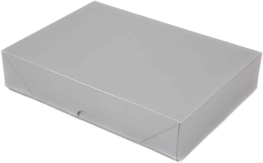 Silver A4 Pop-up Matt Finish Flat Pack Gift Box