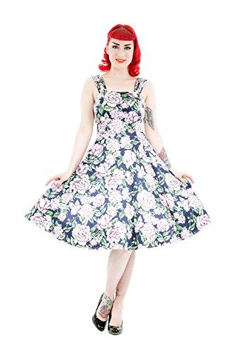 Pink Kleid Navyblau amp; Hearts Floral Roses Damen 6vUwf