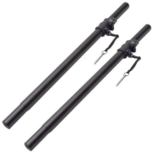 Seismic Audio - Pair of Subwoofer Speaker Add On Stands/Poles PA/DJ