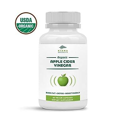 Organic Apple Cider Vinegar Capsules - Pure ACV Pills For Weight Loss, Detox, Healthy Blood Sugar - Vegan, non GMO, Gluten Free