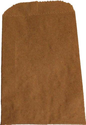 """500 Natural Kraft Merchandise Bags, 16""""x3-3/4""""x24"""" Tall"""