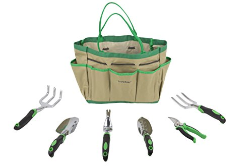 Truefit designs 7 piece garden tool set with durable cast for Gardening tools malaysia
