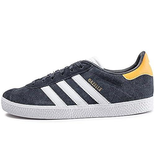 official photos 3dd69 2885c Delicado Adidas Gazelle J, Zapatillas de Deporte Unisex Niño, Gris  (CarbonFtwbla