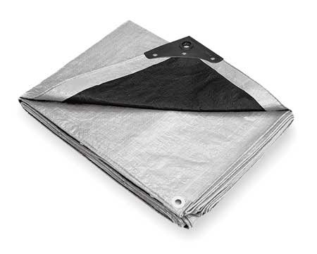- Tarp, Polyethylene, Silver/Black, 16x20Ft