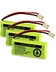 Kruta BT183342/BT283342 2.4V 800mAh Ni-MH Replacement Phone Battery, Also Compatible with AT&T VTech Cordless Phone Batteries BT166342/BT266342 BT162342/BT262342 CS6709 CS6609 CS6509 CS6409 EL52100 EL50003 (Pack 3)