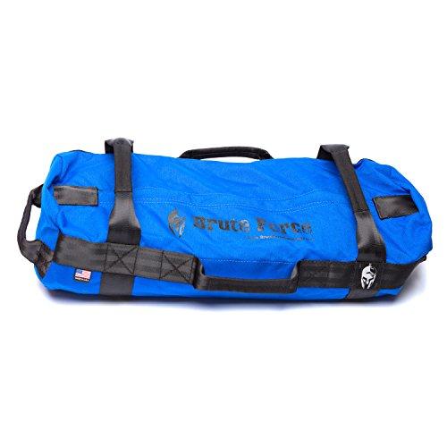 Brute Force Sandbags - Strongman - Blue - Heavy Duty Workouyt Sandbags for Fitness Exercise Sandbags Military Sandbags Heavy Sand Bags Fitness Sandbags Training Sandbags Tactical ()