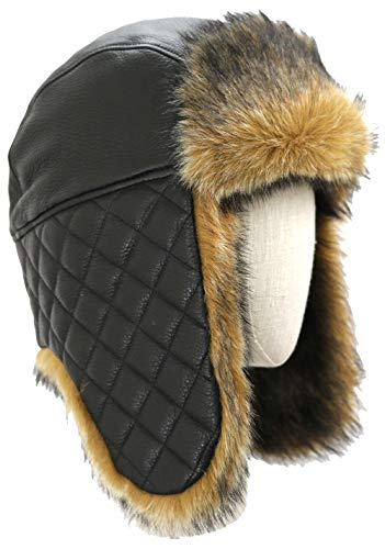 (UGG Women's Leather and Sheepskin Lined Trapper Black One Size)