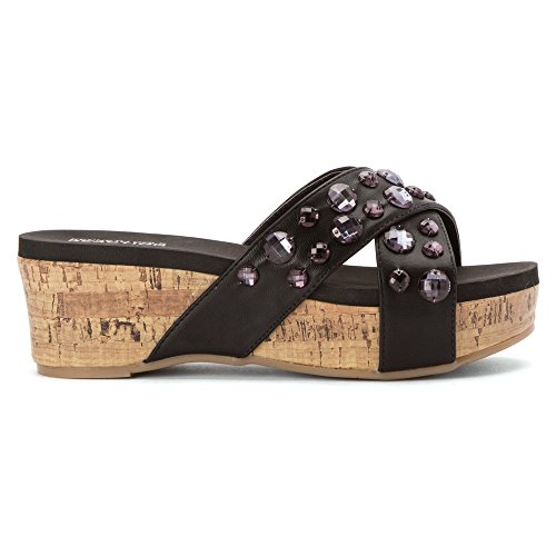 Kenneth Cole Reaction Frauen STEP INSIDE 2 Offener Zeh besonderer Anlass Platform Sandalen Black
