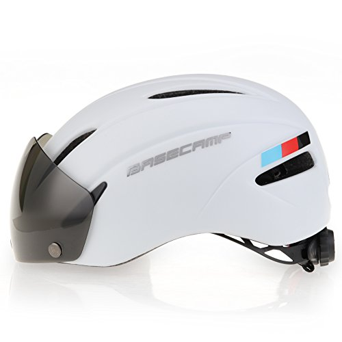 e Helmets with Removable Shield Visor (Matte White) (Deluxe Womens Helmet)