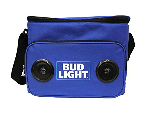 Bud Light Soft Cooler Bluetooth Speaker Portable Travel Cooler with Built in Speakers BudLight Wireless Speaker Cool Ice Pack Cold Beer Stereo for Apple iPhone, Samsung Galaxy by Bud Light (Image #1)