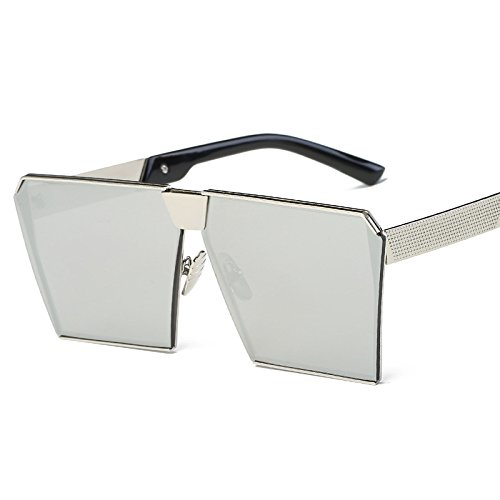 Blue Gafas Mercury Gafas De De de Sol La Frame De Sol De Caja con JUNHONGZHANG marco Moda plata Color De Gold Mercurio Mujer Gafas Sol De Gafas 0v81nqR