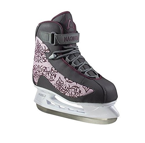 American Athletic Shoe Women's Soft Boot Hockey Skates, Grey, 9