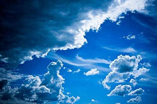 空の雲の壁紙-自然の壁紙-#8237 - キャンバス ステッカー 印刷 壁紙ポスター はがせるシール式 写真 特大 絵画 壁飾り120cmx80cm