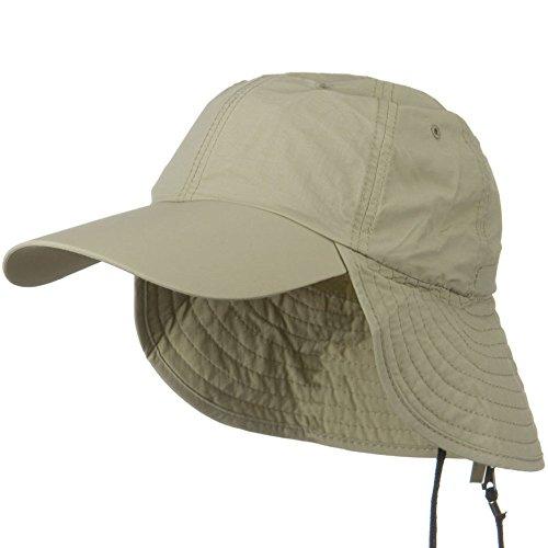 e4Hats.com UV 50+ Outdoor Talson UV Flap Cap - Khaki