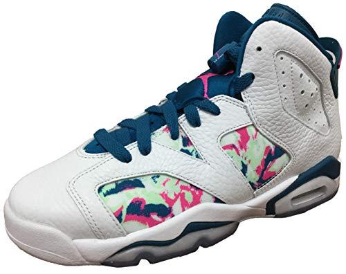 Jordan Air 6 Retro Big Kids Shoes White/Laser Fuchsia 543390-153 (7 M US)